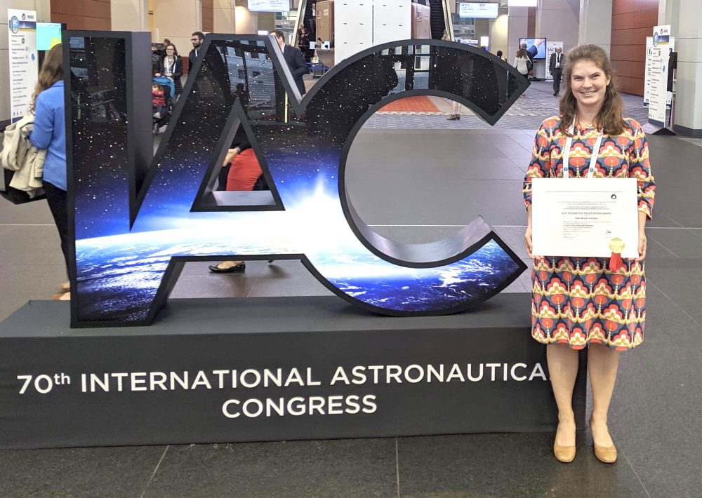 BCSS Master's Student Elise Knutsen wins IAF Interactive Presentation Award