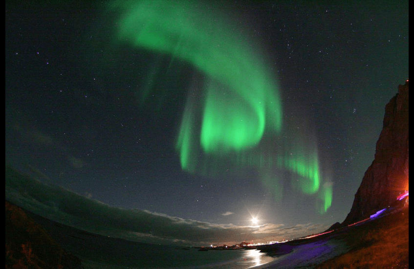 Revealing a surprising interplay between climate change, the aurora and the ozone layer